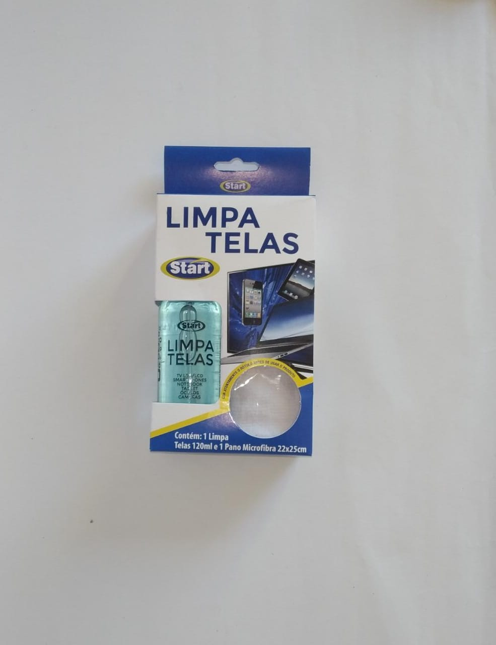 Limpa Tela 120ml GRÁTIS Pano Microfibra - Start