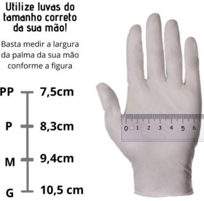 Luva látex de procedimento com pó 100und/ cx - Descarpack