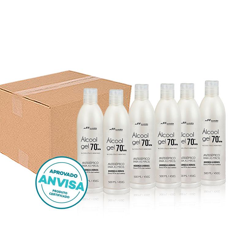 Caixa Alcool gel 70 -  Antisséptico para as mãos