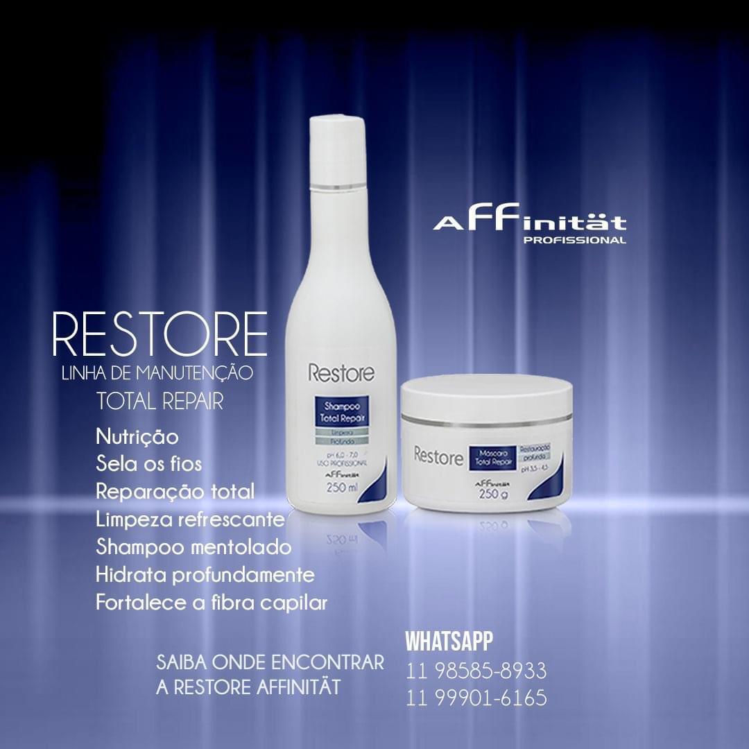 Kit Restore Restauração - Shampoo Restore  250 ml e Máscara Restore - 250g