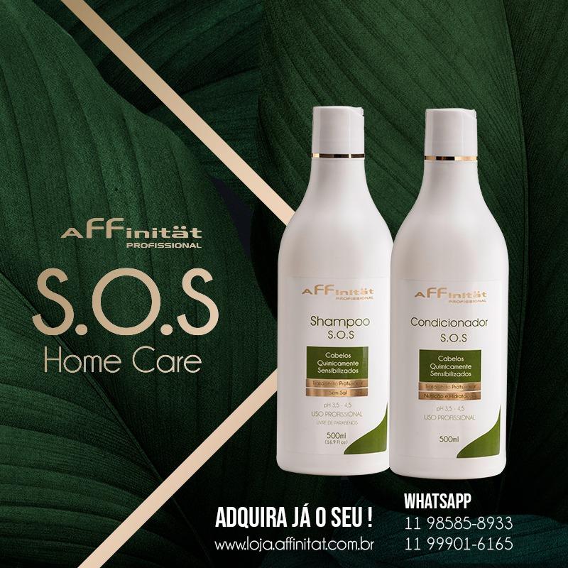 Kit S.O.S Pós Química - Shampoo sem sal 500ml e Condicionador - 500 ml