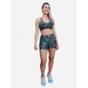 Shorts Básico Estampado Camuflado