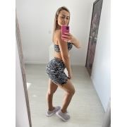 Shorts Jacquard Empina Bumbum Degrade Preto