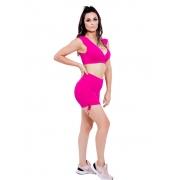 Shorts Jacquard Empina Bumbum Meia Coxa Pink