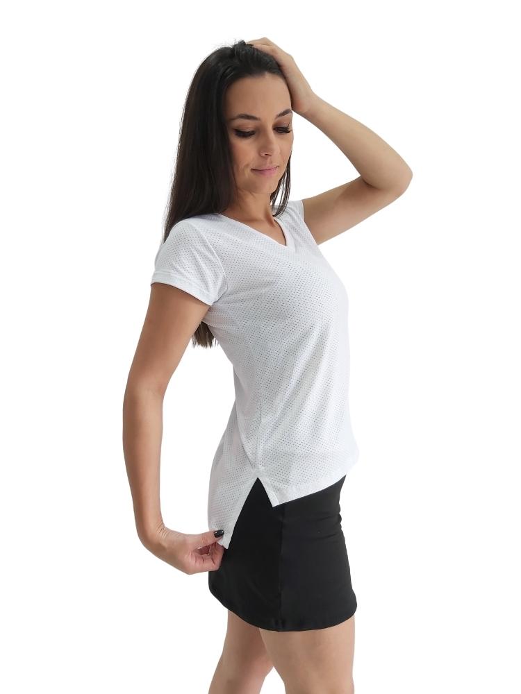 Blusa Decote V c/ Abertura Lateral Branca