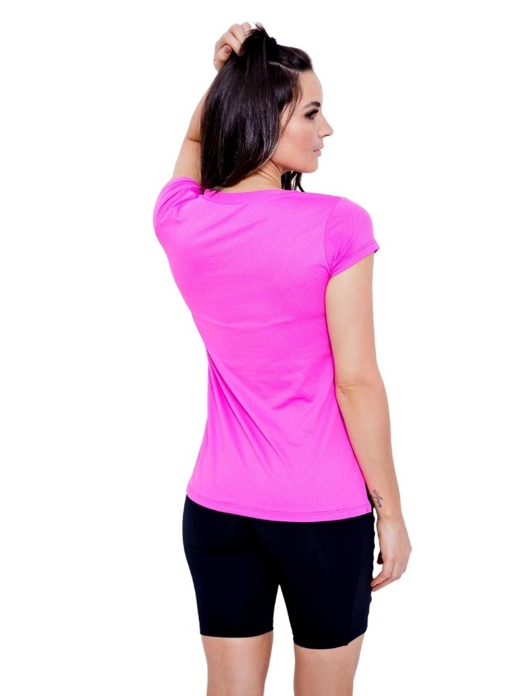 Blusa Decote V c/ Abertura Lateral Rosa