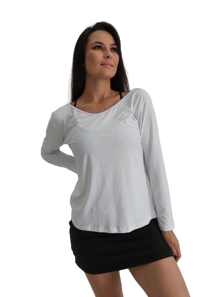 Blusa Manga Longa Branco