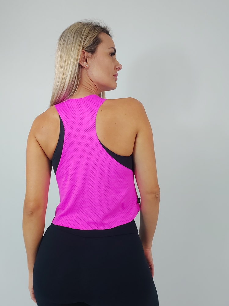 Cropped Dryfit Rosa Neon