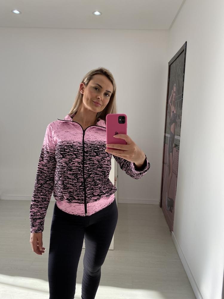 Jaqueta Jacquard Degradê Rosa Claro