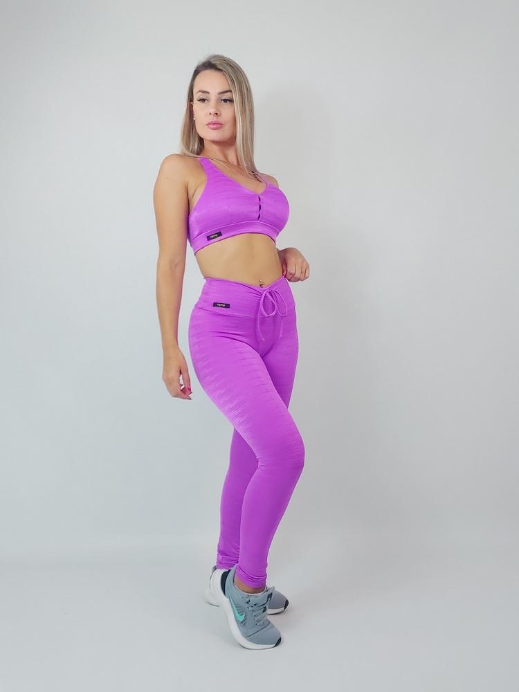Legging Empina Bumbum Diamante  Pink