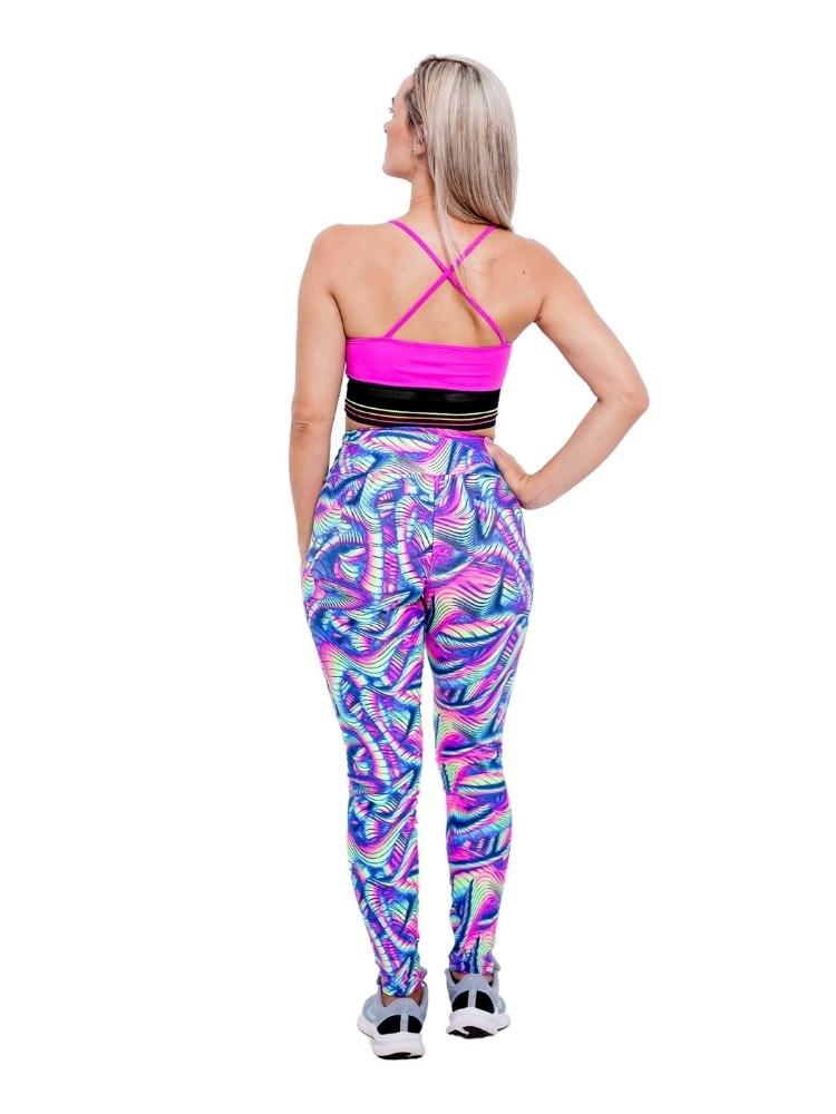 Legging Empina Bumbum Estampada Neon Colorida