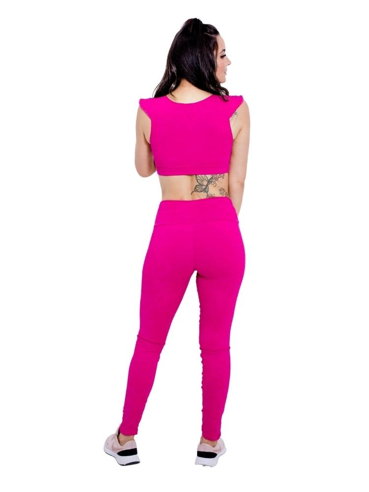 Legging Jacquard Empina Bumbum Rosa Pink