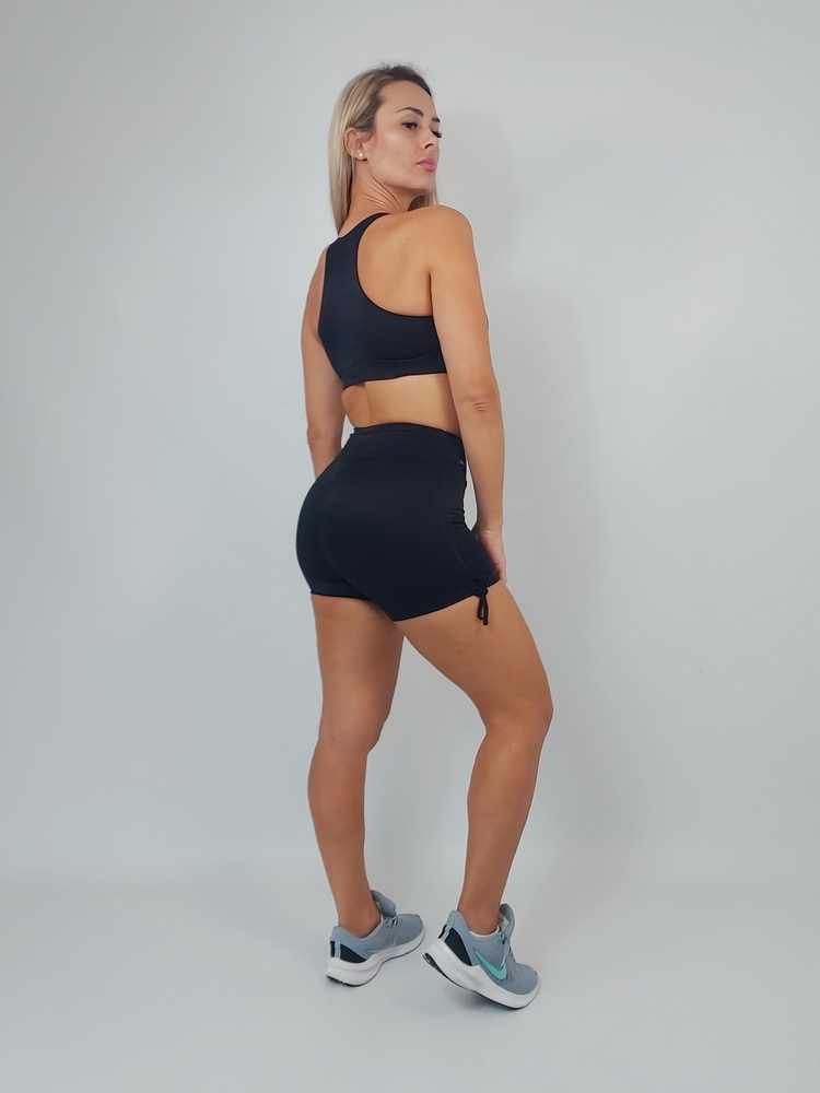 Shorts Empina Bumbum Diamante Preto