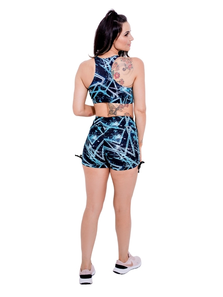 Shorts Empina Bumbum Meia Coxa Estampado Blue