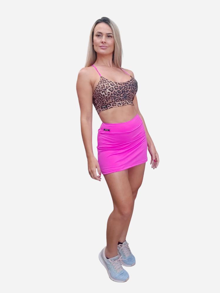 Shorts Saia Corte Reto Pink