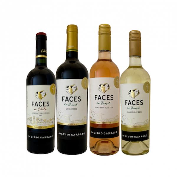 Faces por Lídio Carraro (4 vinhos)