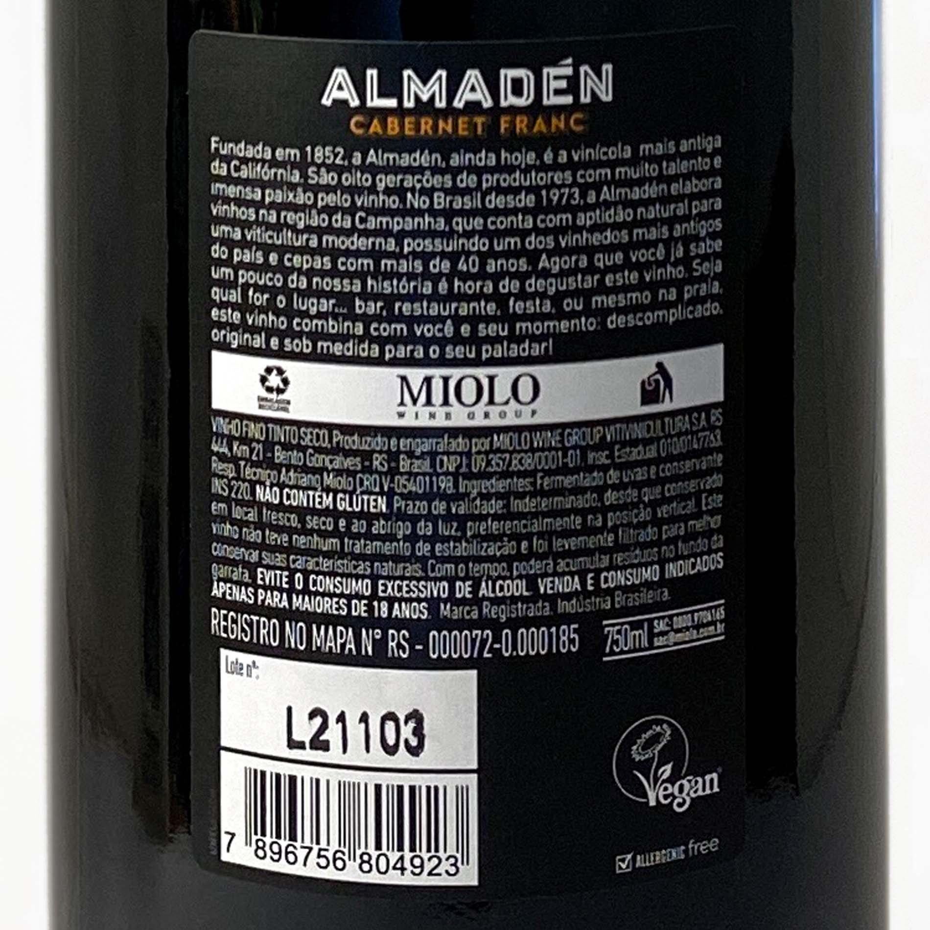 Almadén Cabernet Franc  - Vinerize