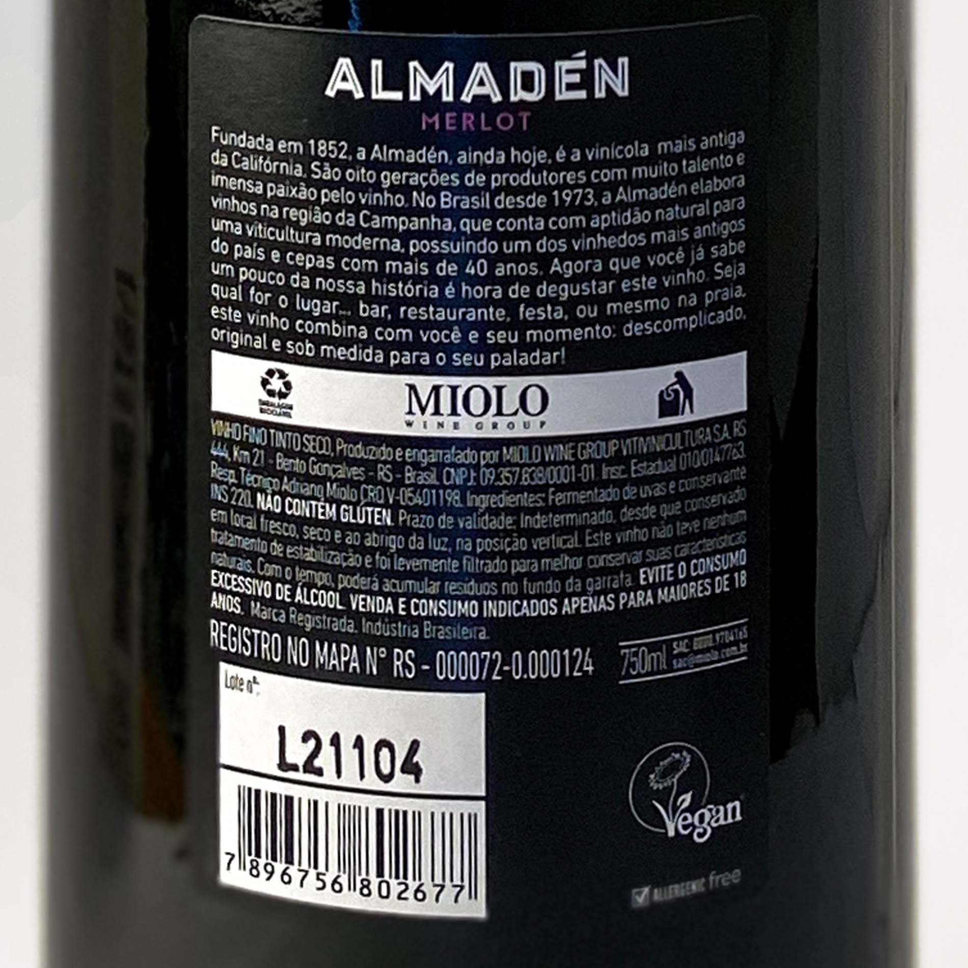 Almadén Merlot  - Vinerize