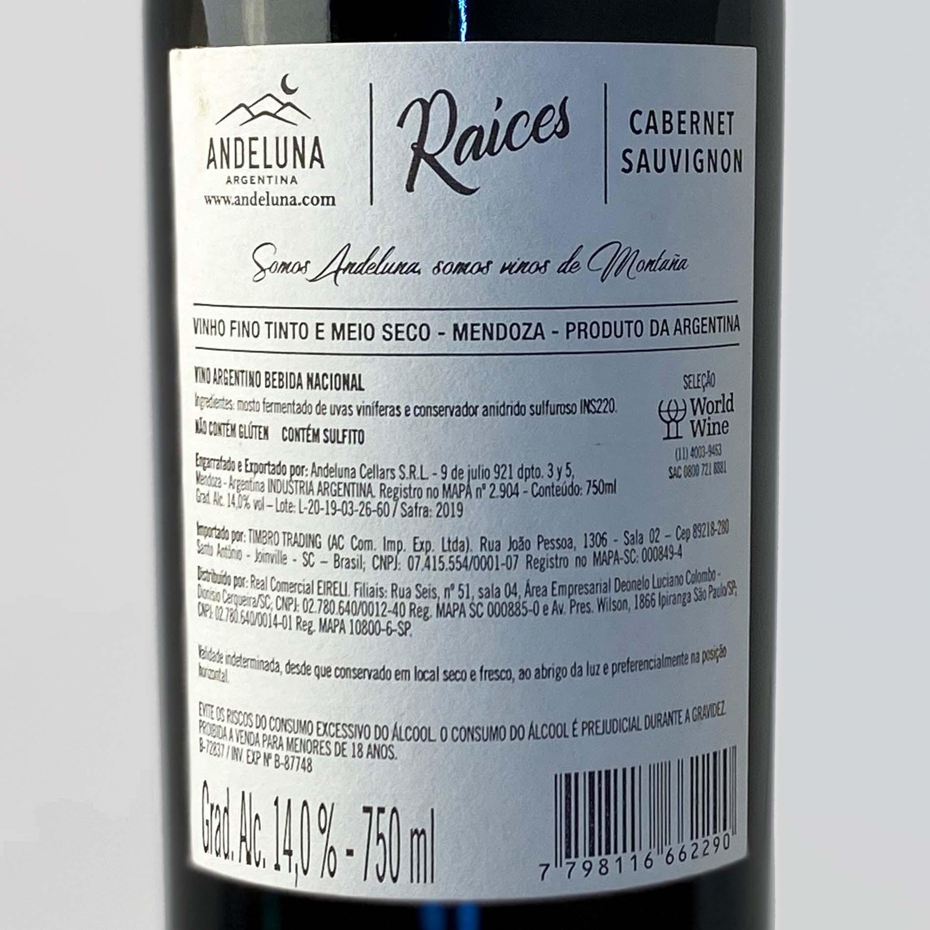 Andeluna Raíces - Cabernet Sauvignon  - Vinerize