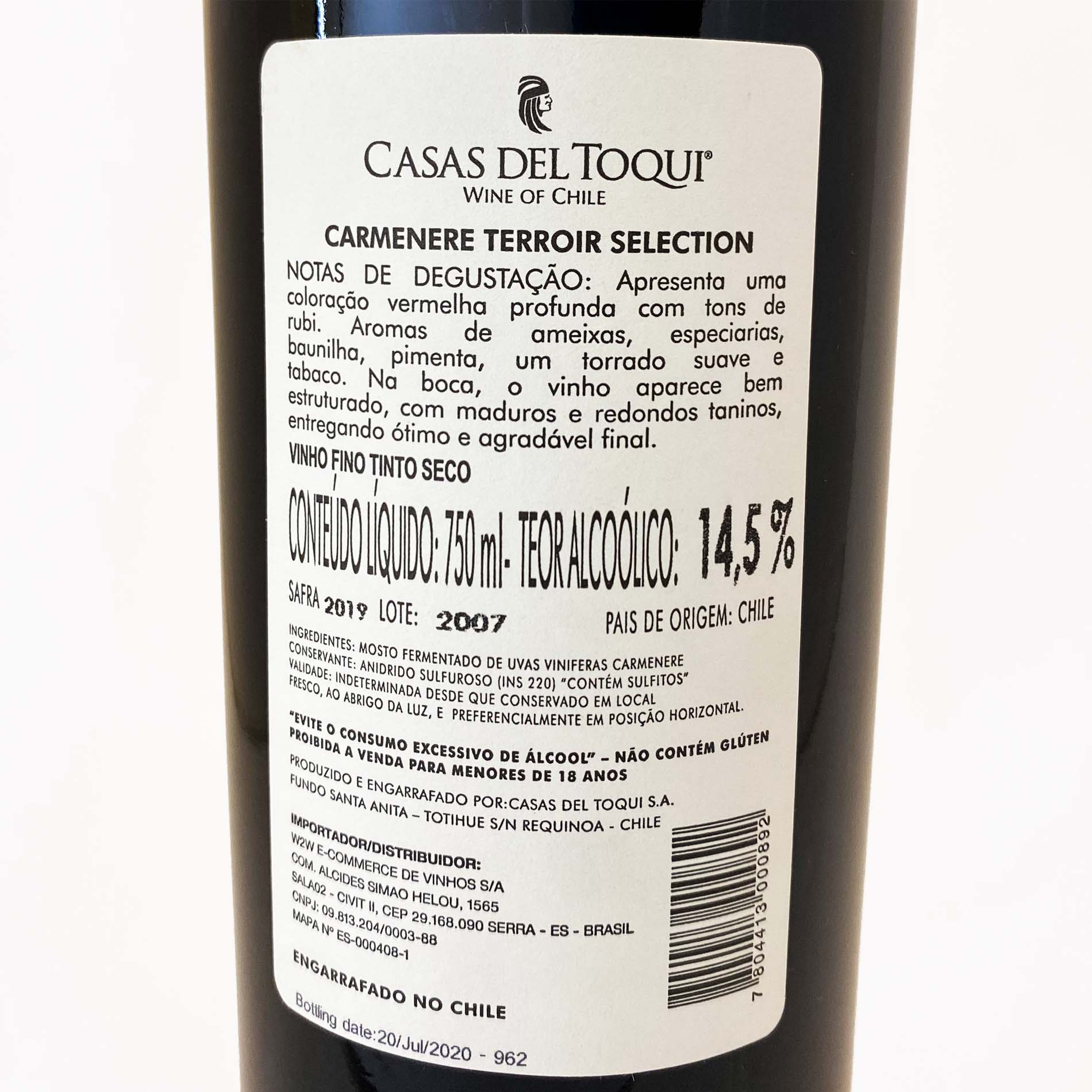 Casas Del Toqui Terroir Selection Gran Reserva Carménère  - Vinerize