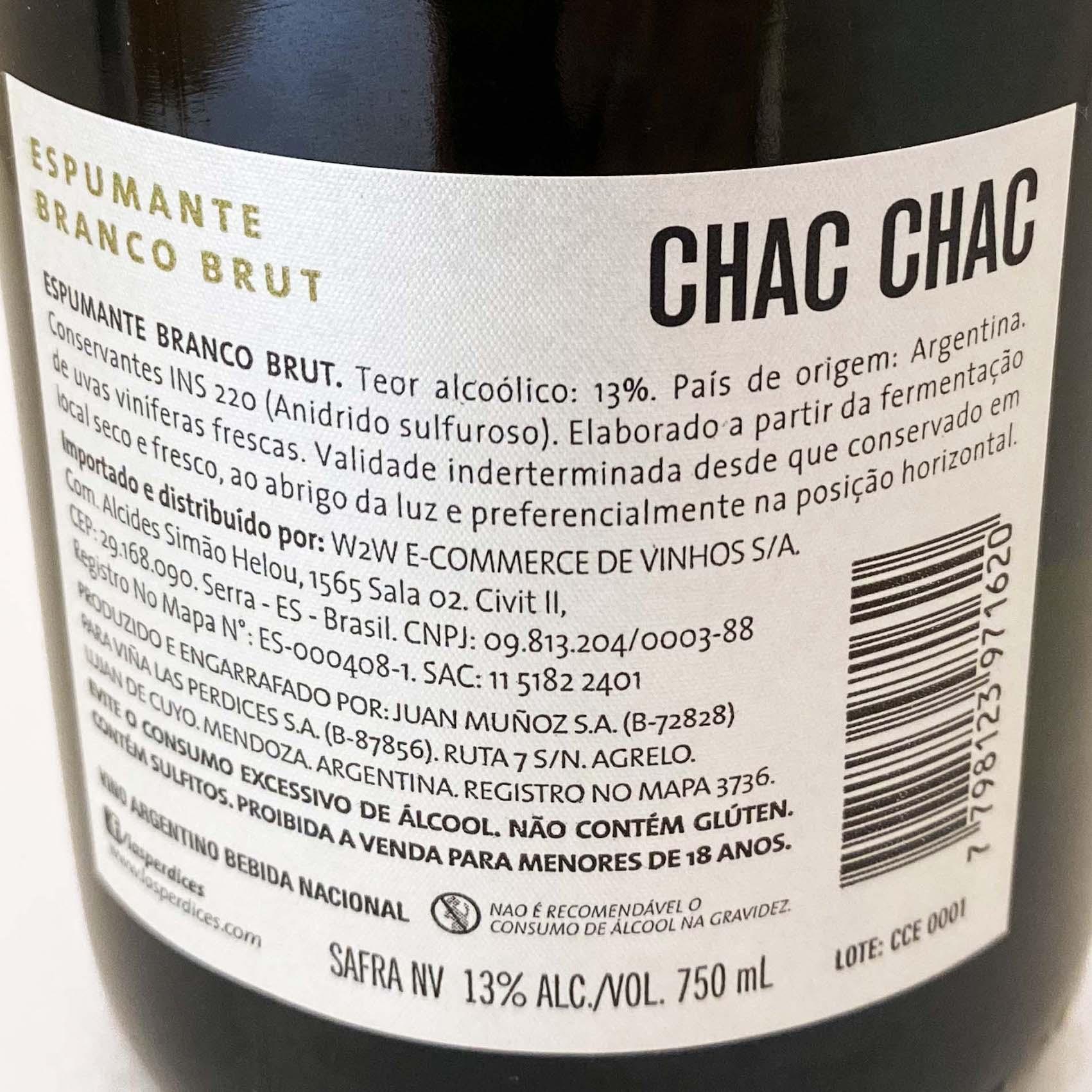 Chac Chac Espumante Brut  - Vinerize
