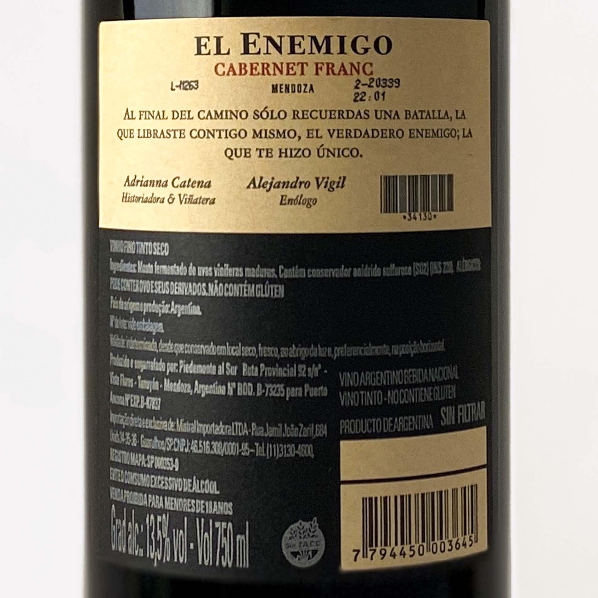 El Enemigo Cabernet Franc  - Vinerize