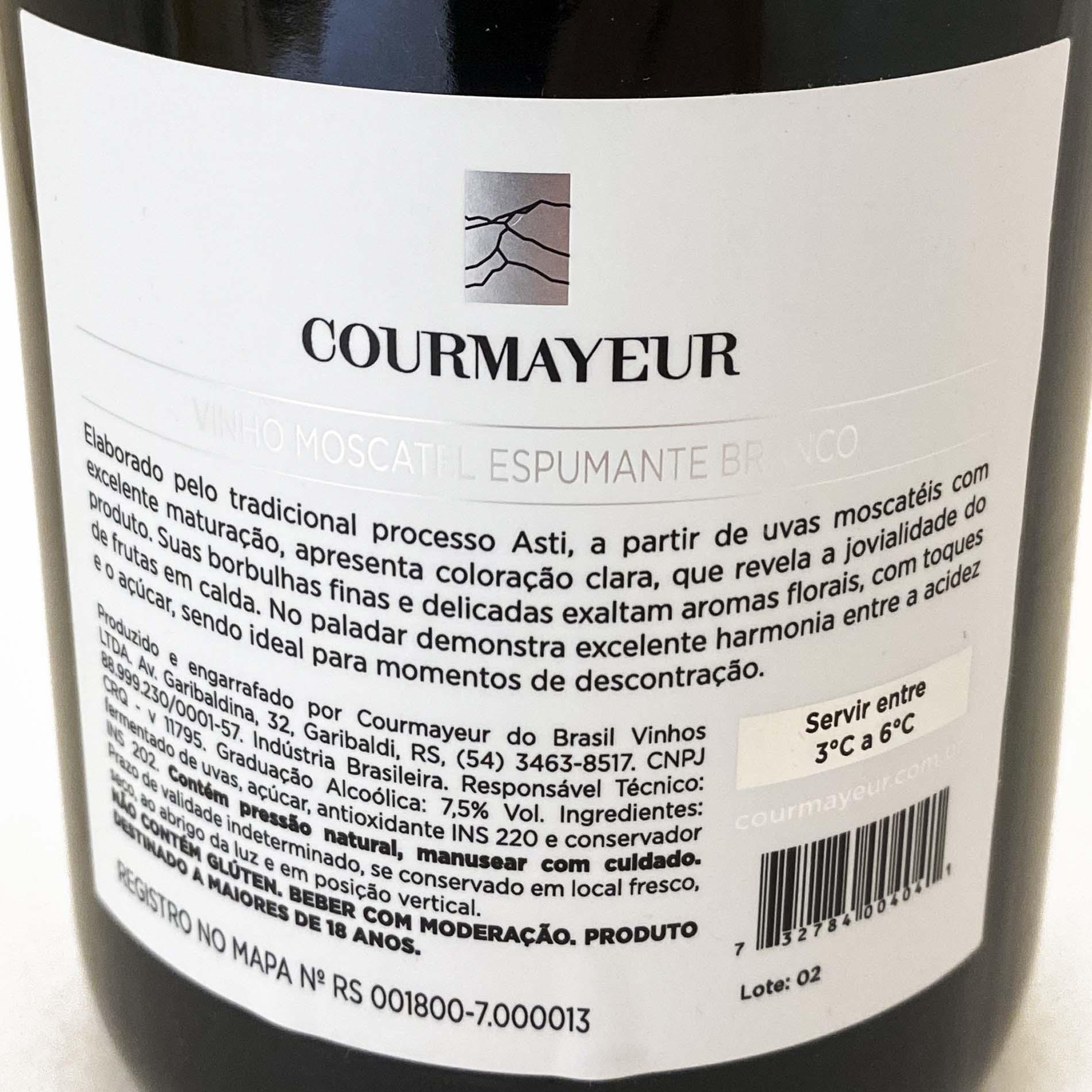 Espumante Courmayeur Moscatel  - Vinerize