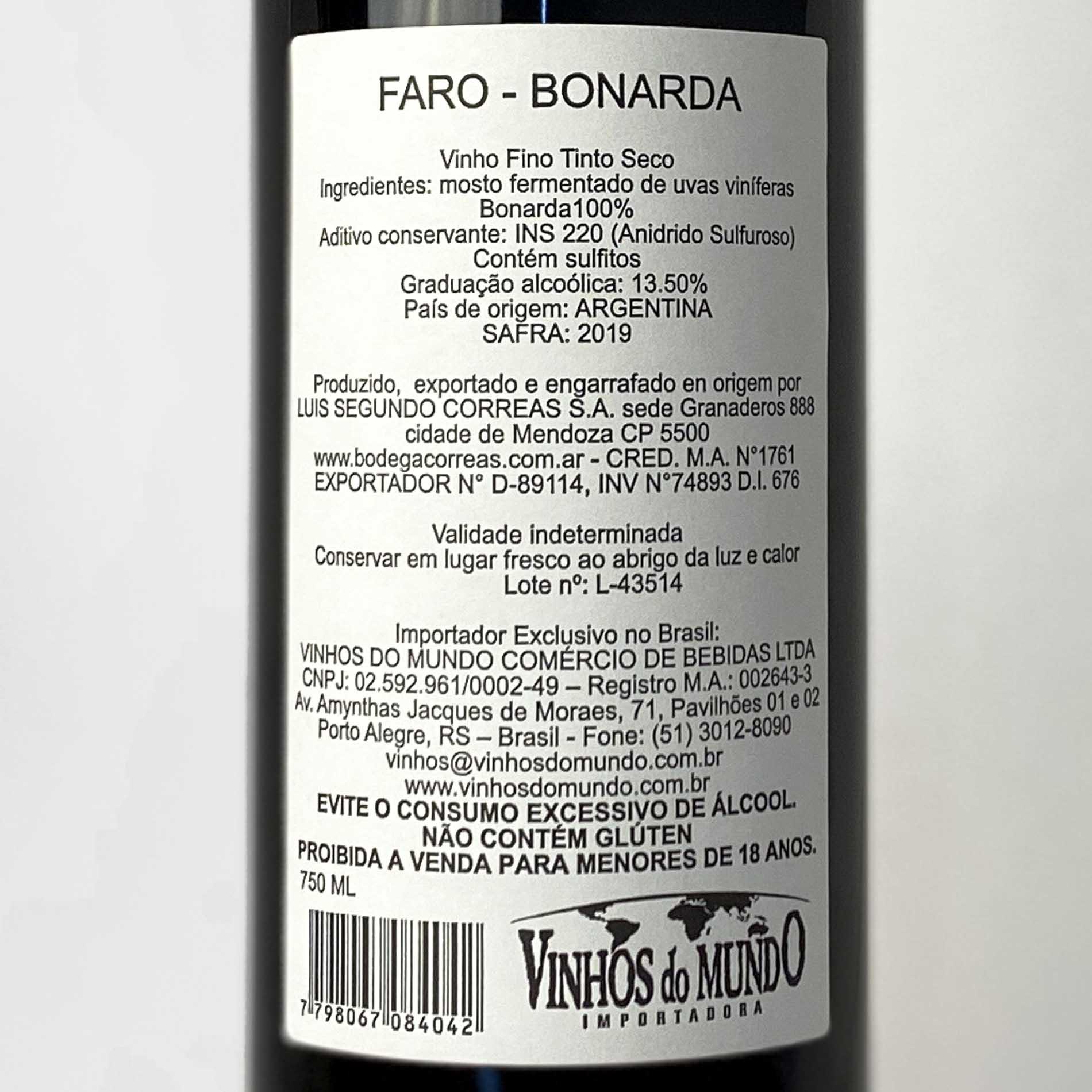 Faro Bonarda  - Vinerize