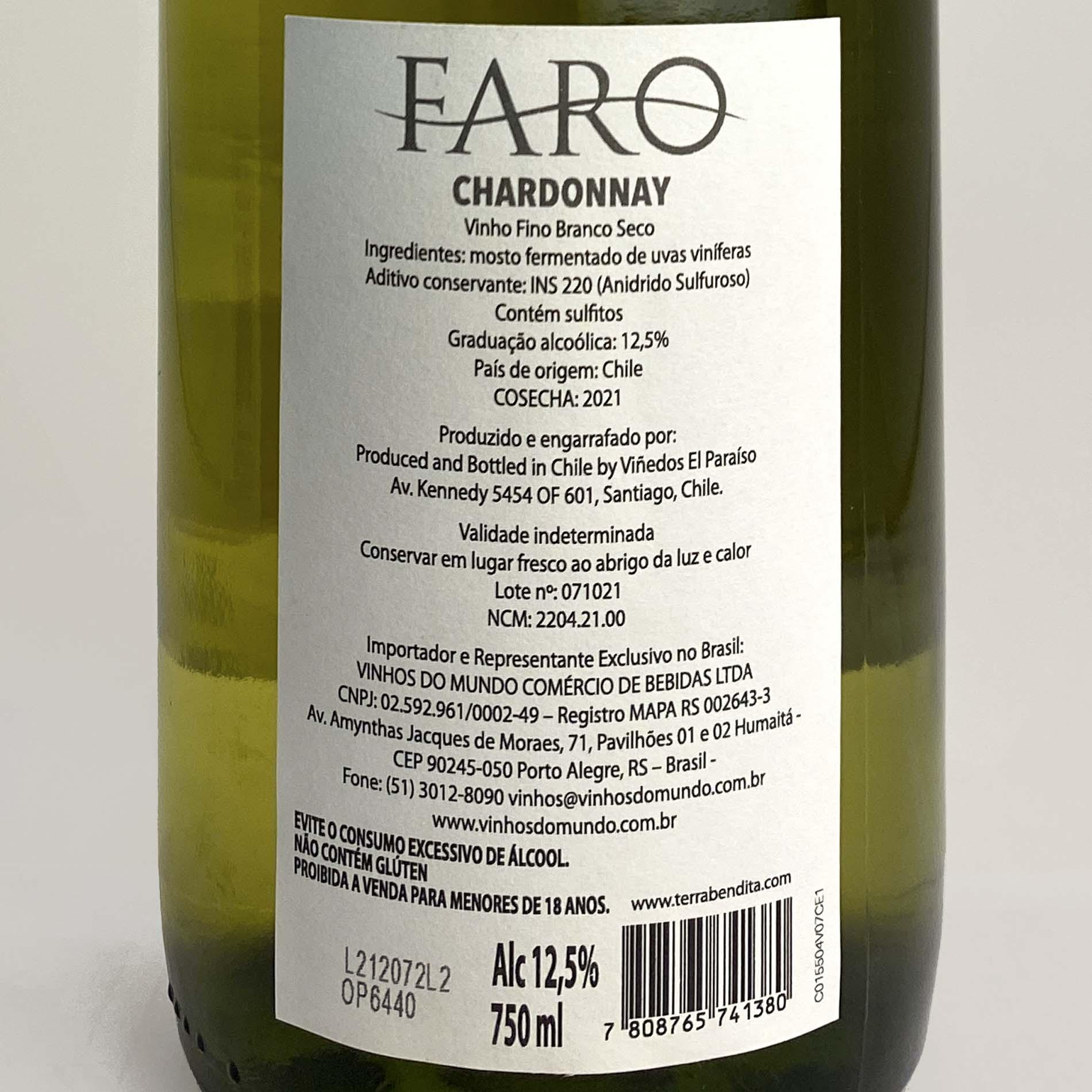 Faro Chardonnay (Chileno)  - Vinerize