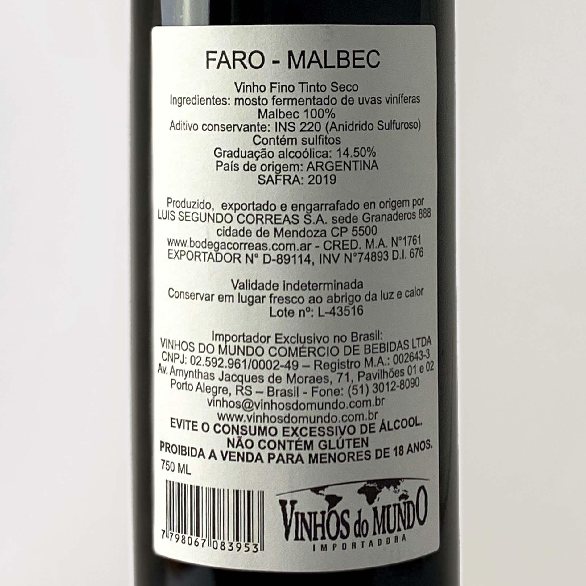Faro Malbec  - Vinerize