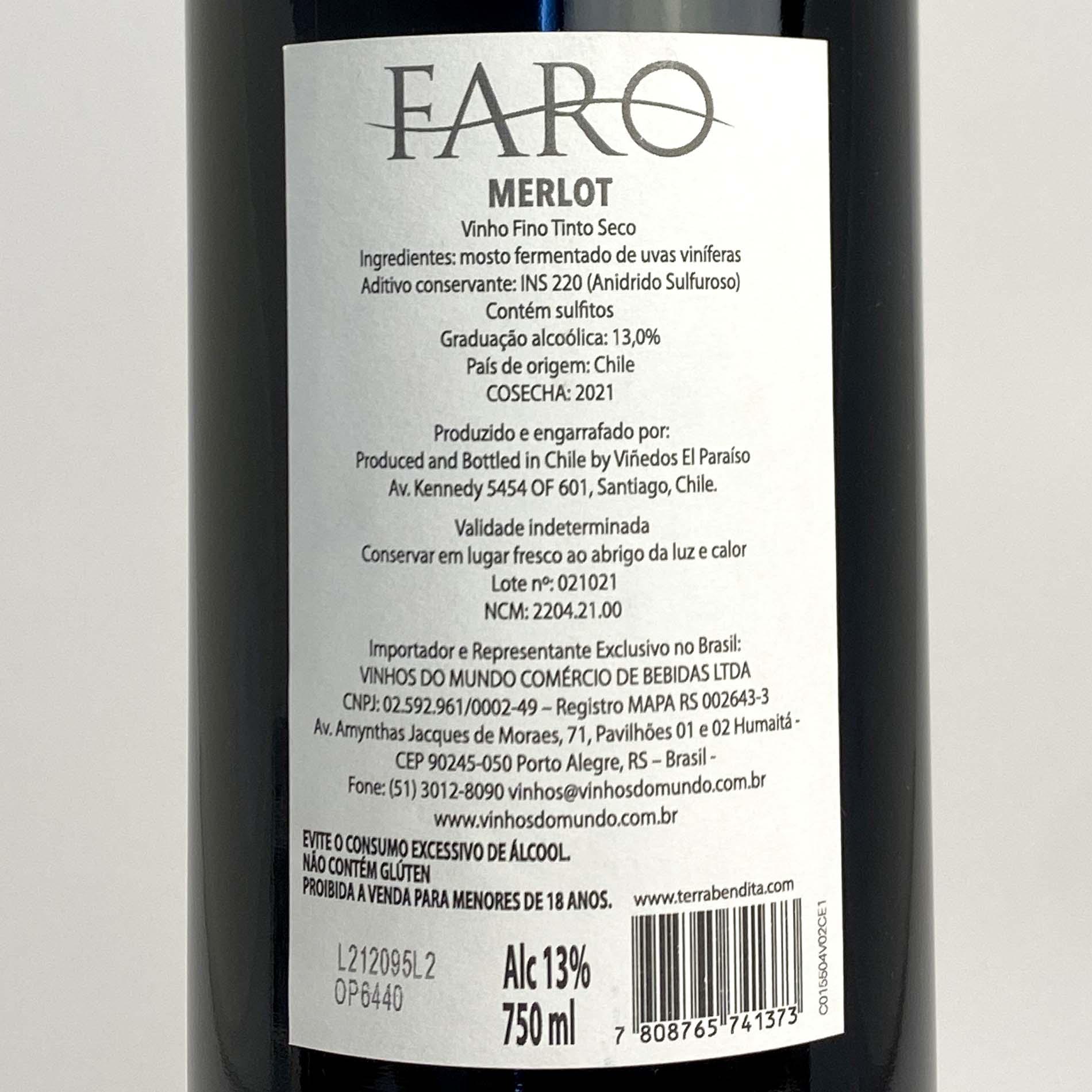 Faro Merlot (Chileno)  - Vinerize