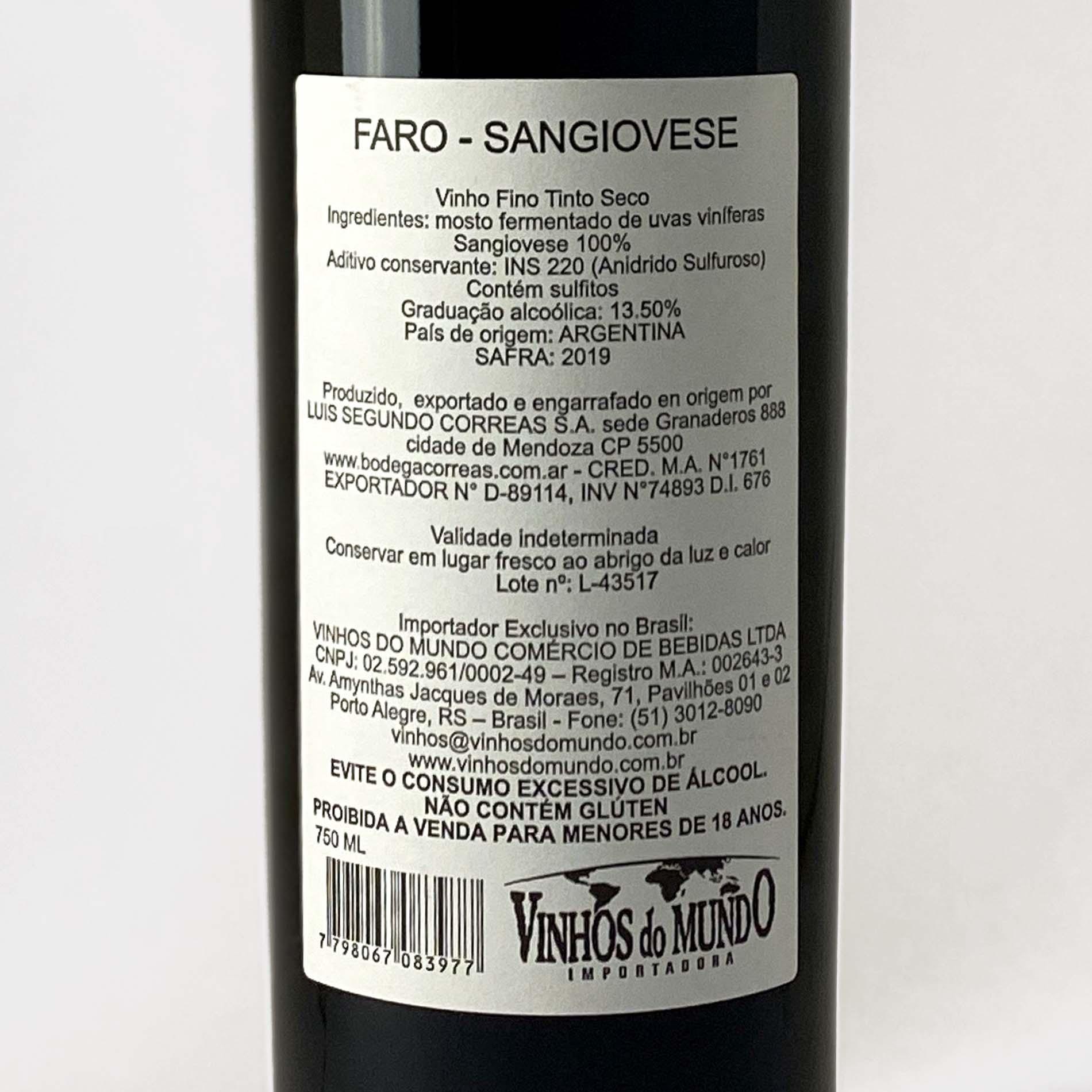 Faro Sangiovese  - Vinerize