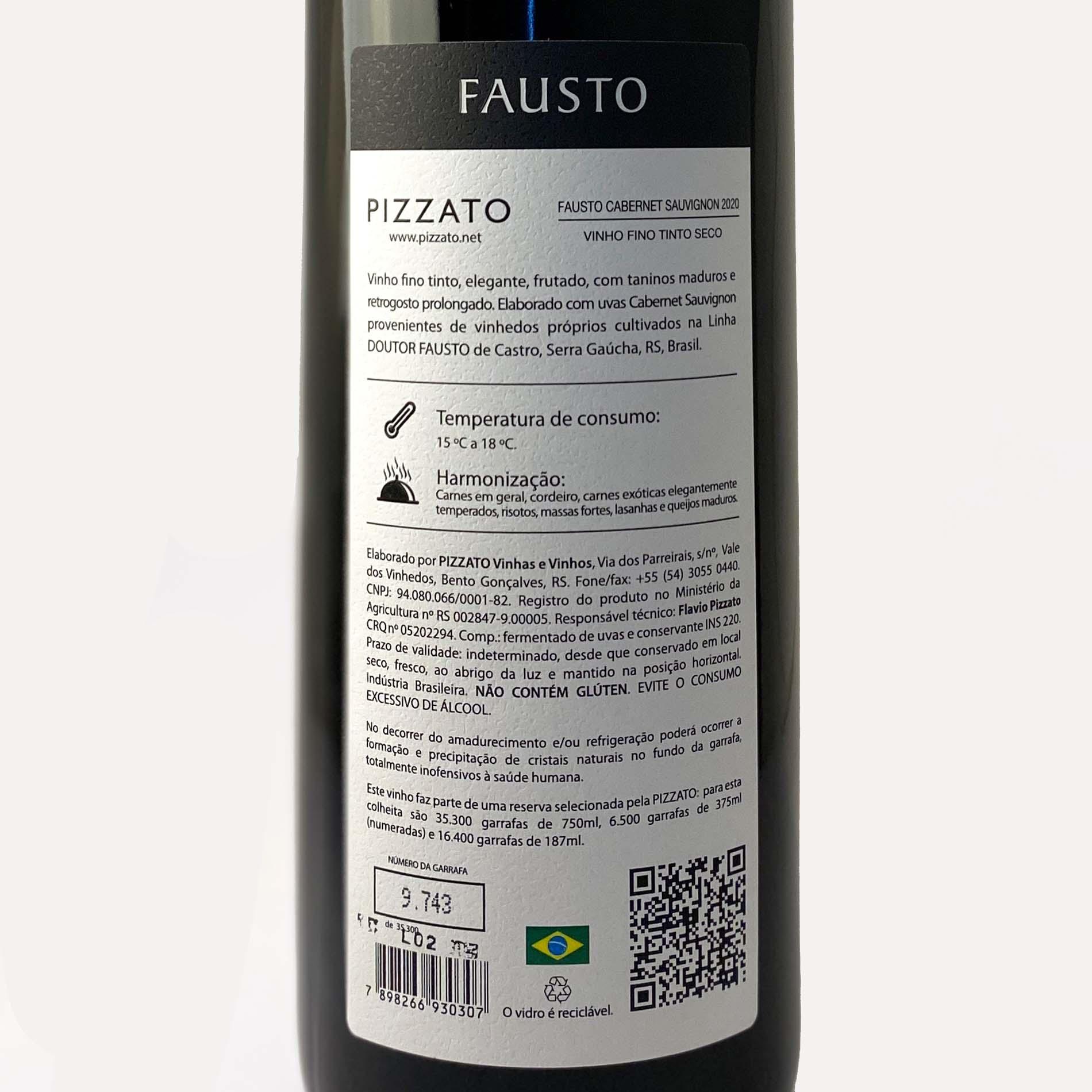 FAUSTO (de Pizzato) Cabernet Sauvignon  - Vinerize