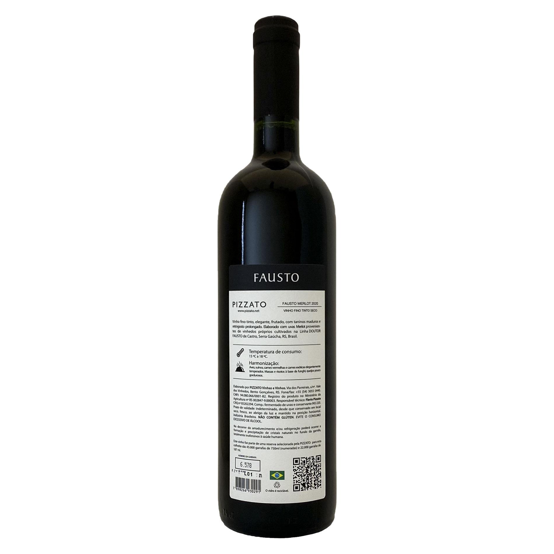 FAUSTO (de Pizzato) Merlot  - Vinerize