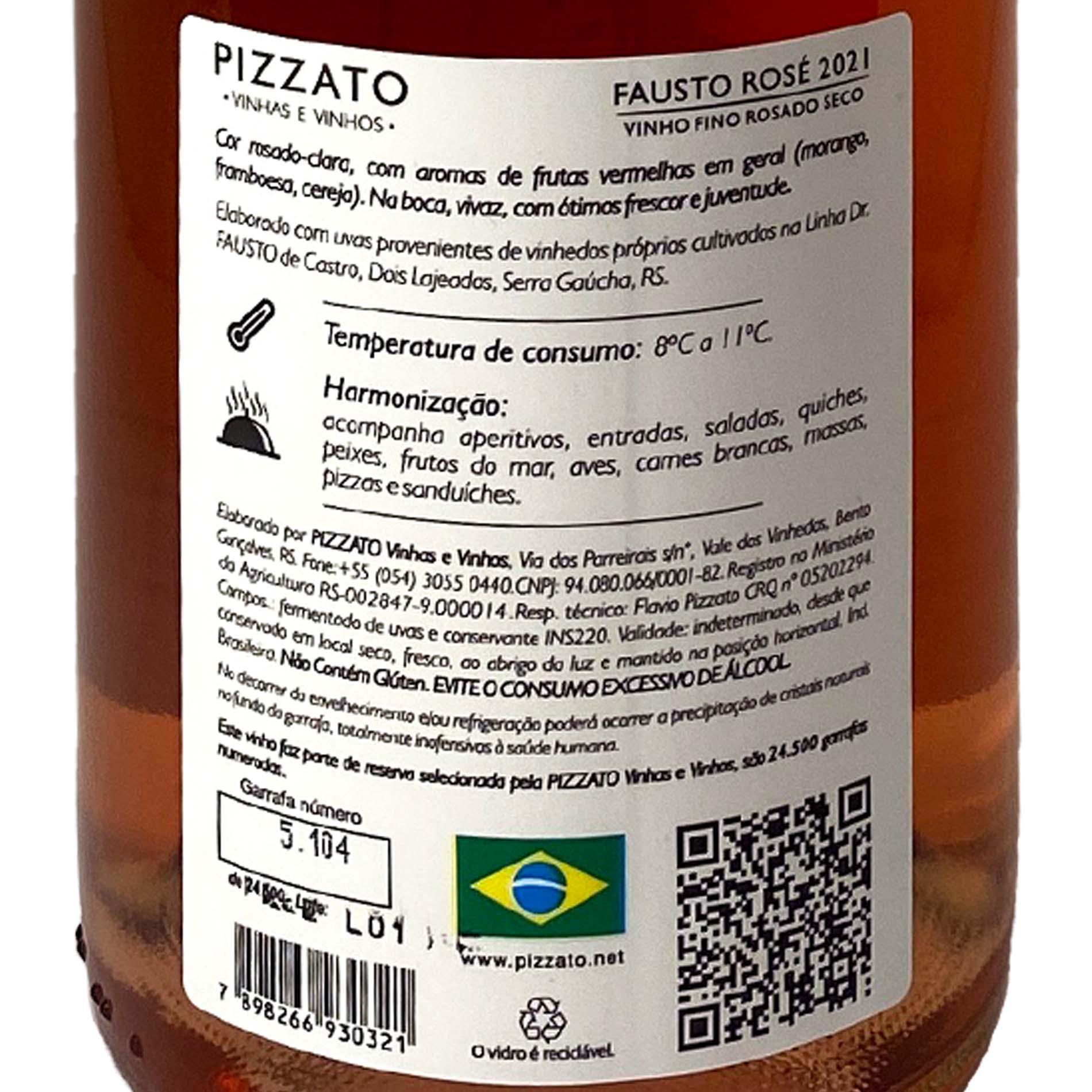 Fausto (de Pizzato) Merlot Rosé  - Vinerize