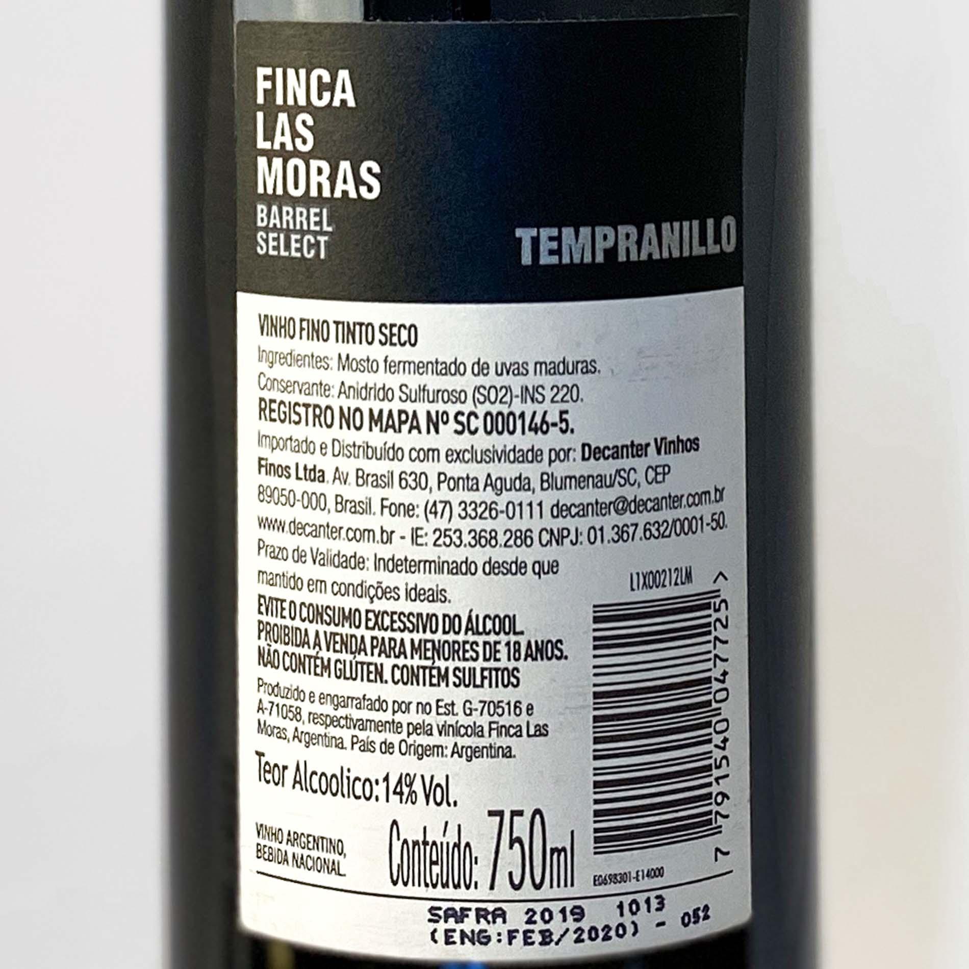 Finca Las Moras Tempranillo Barrel Select  - Vinerize