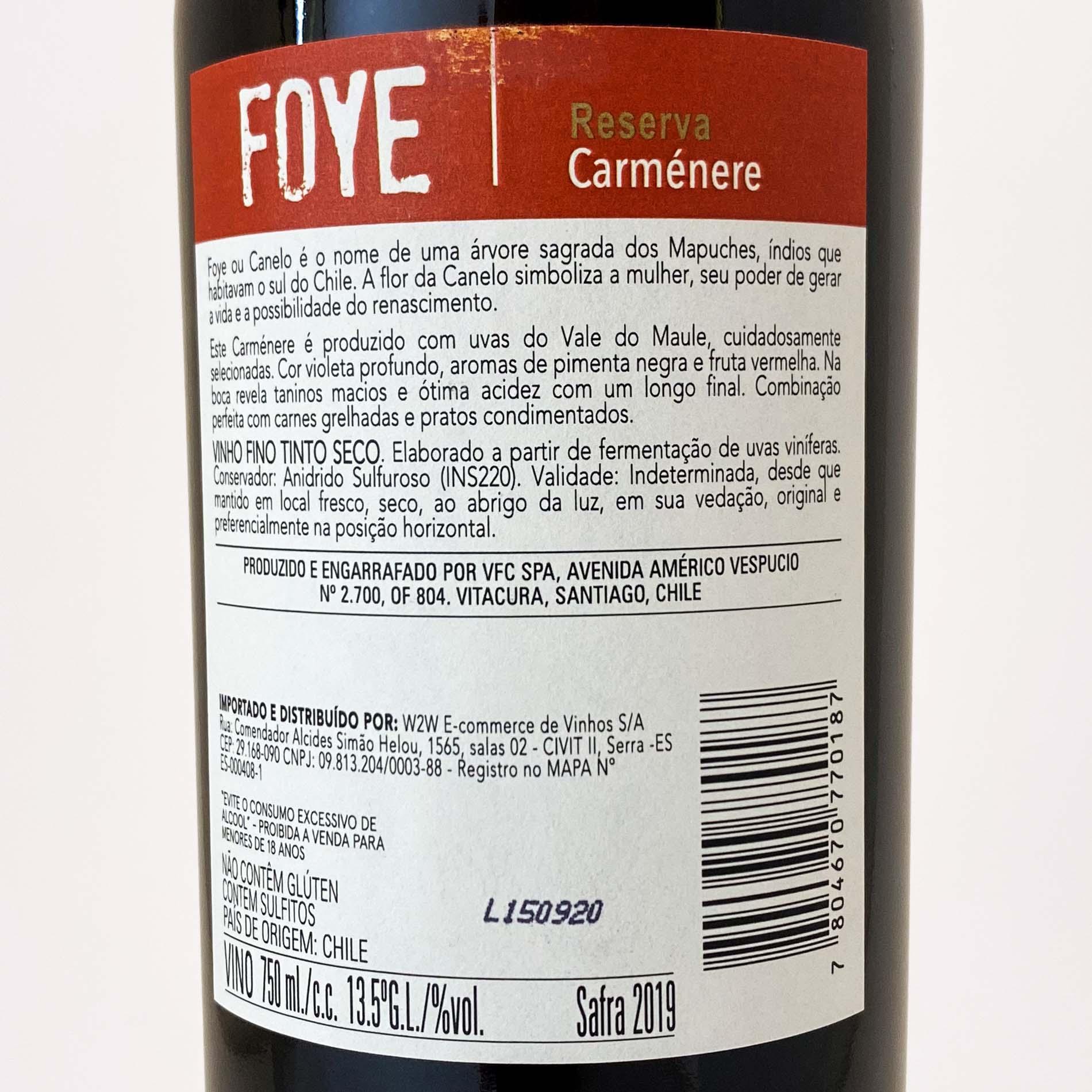 Foye Reserva Carménère  - Vinerize