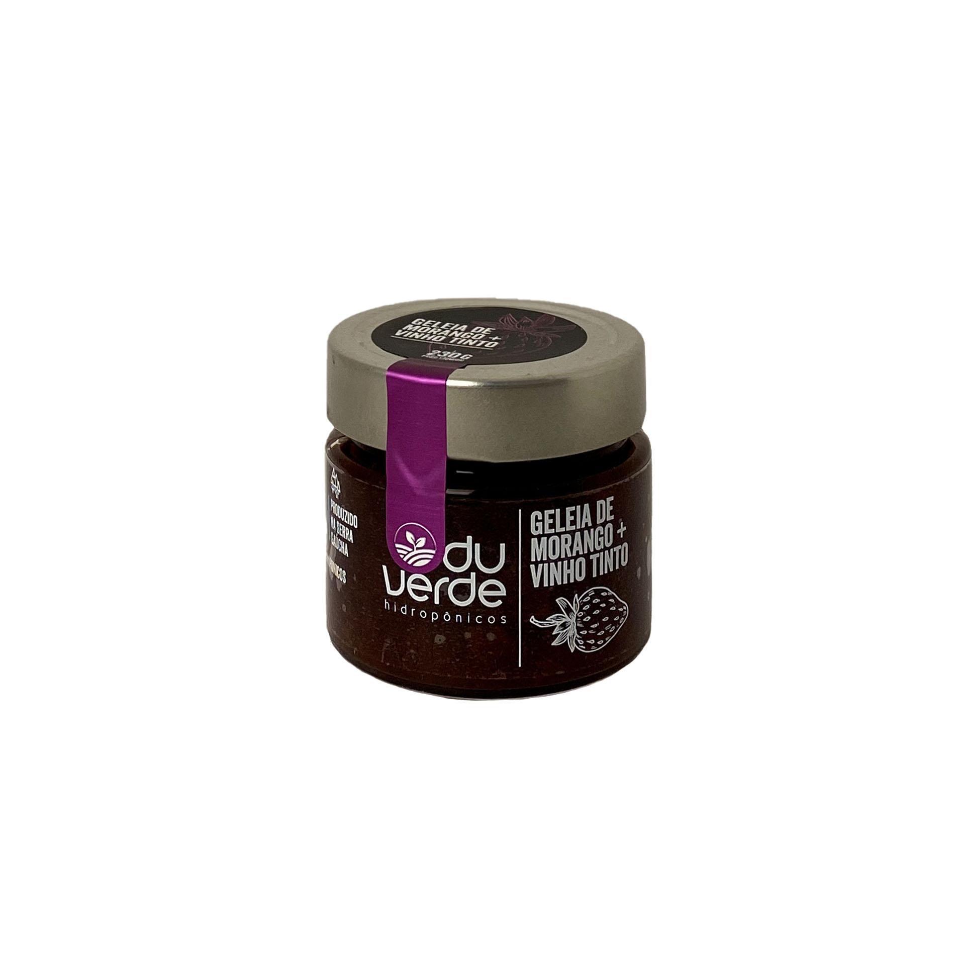 Geleia de Morango + Vinho Tinto  - Vinerize
