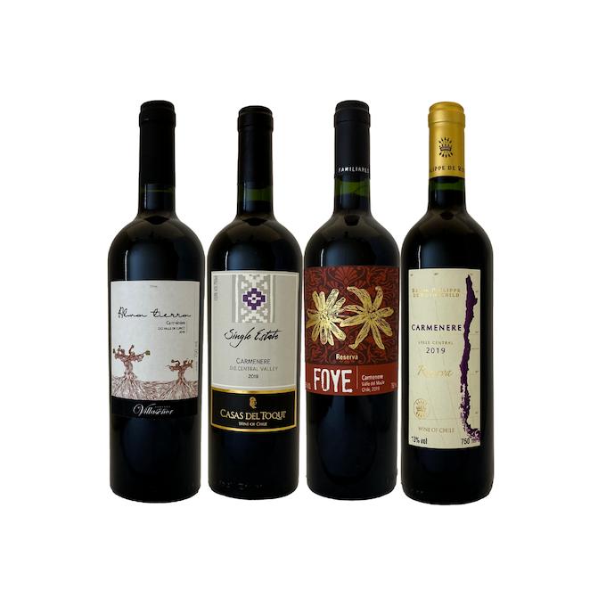 Kit 4 vinhos chilenos 39,98/un  - Vinerize
