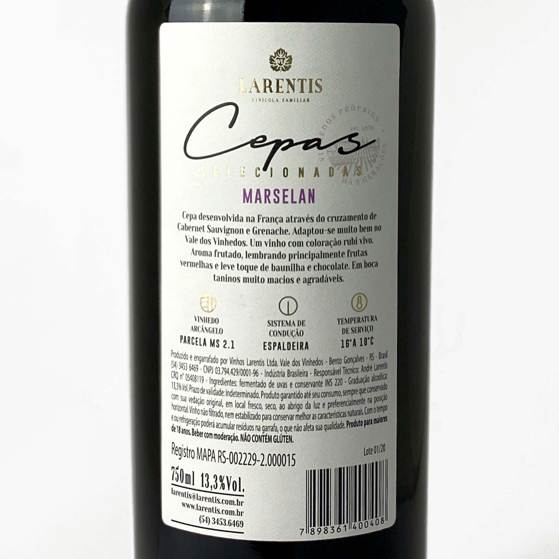Larentis Cepas Selecionadas Marselan  - Vinerize