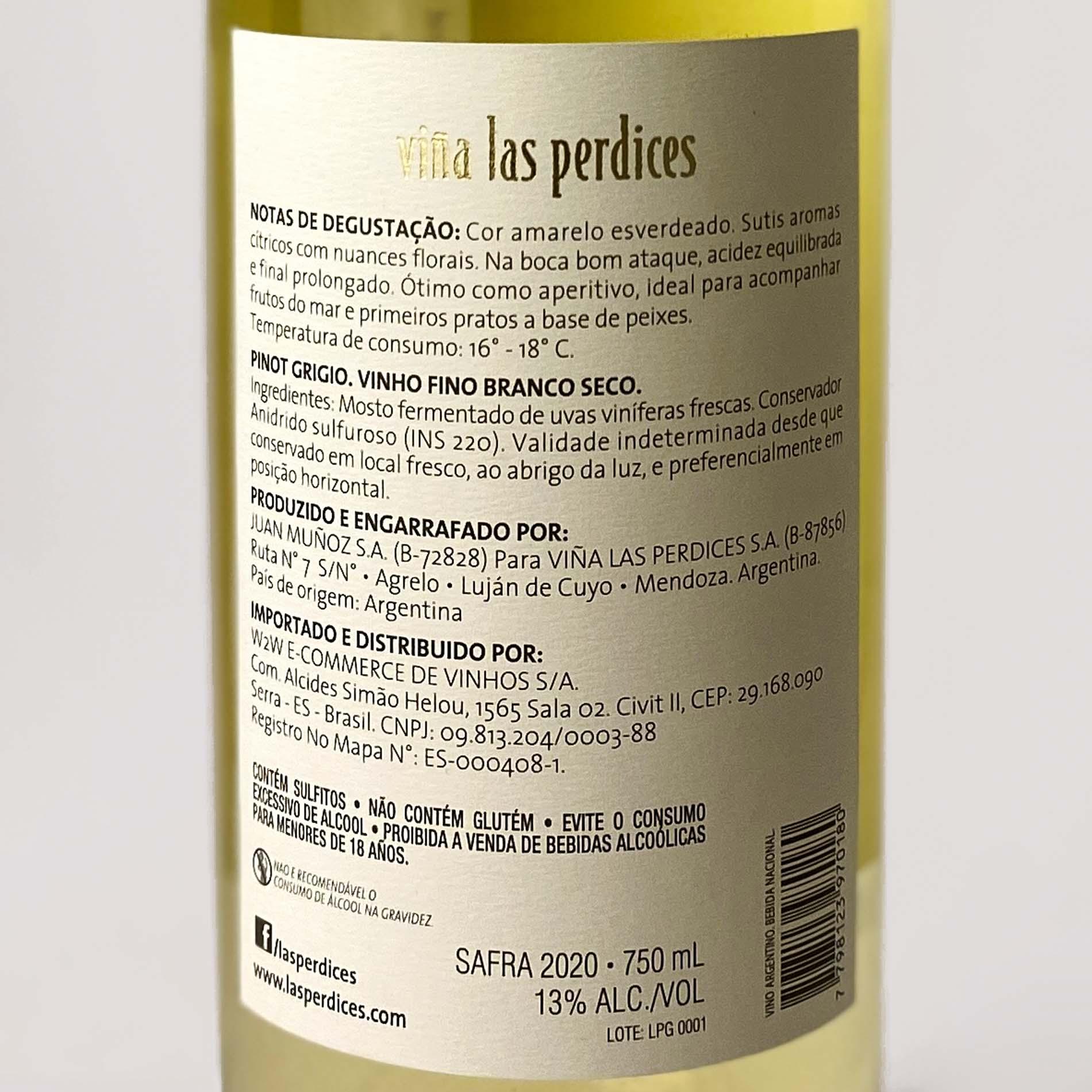 Las Perdices Pinot Grigio  - Vinerize