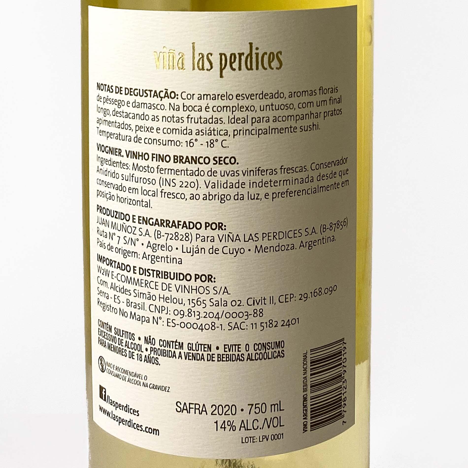 Las Perdices Viognier  - Vinerize