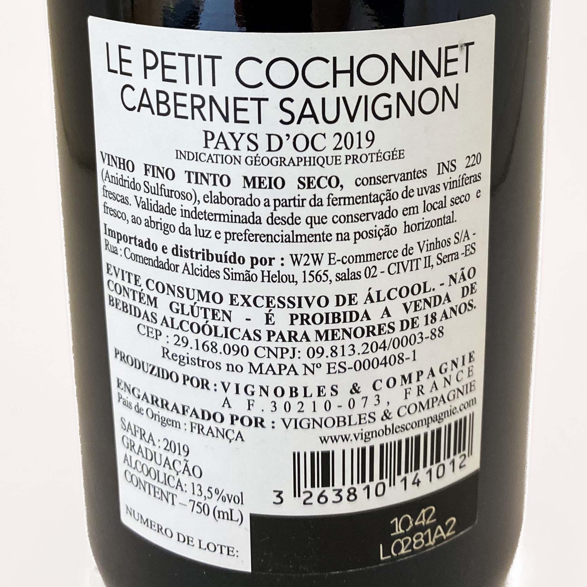 Le Petit Cochonnet I.G.P. Pays dOc Cabernet Sauvignon  - Vinerize