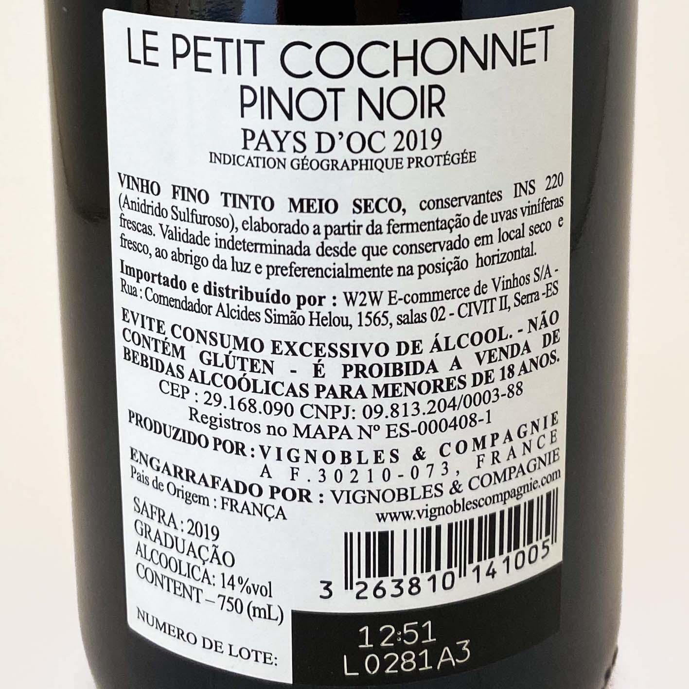 Le Petit Cochonnet I.G.P. Pays dOc Pinot Noir  - Vinerize