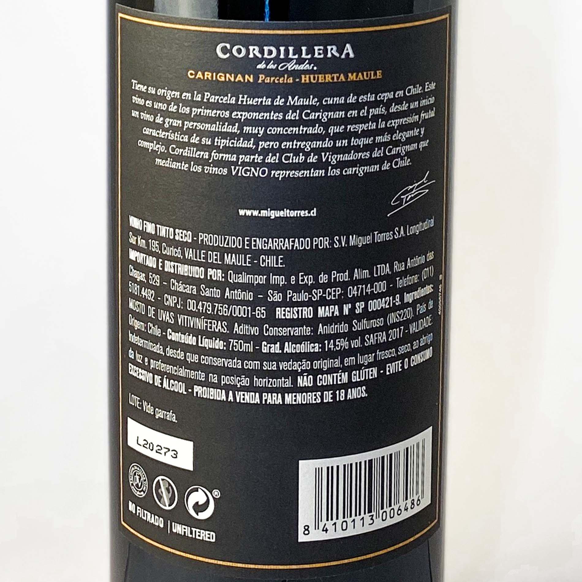 Miguel Torres Cordillera Vigno Carignan  - Vinerize