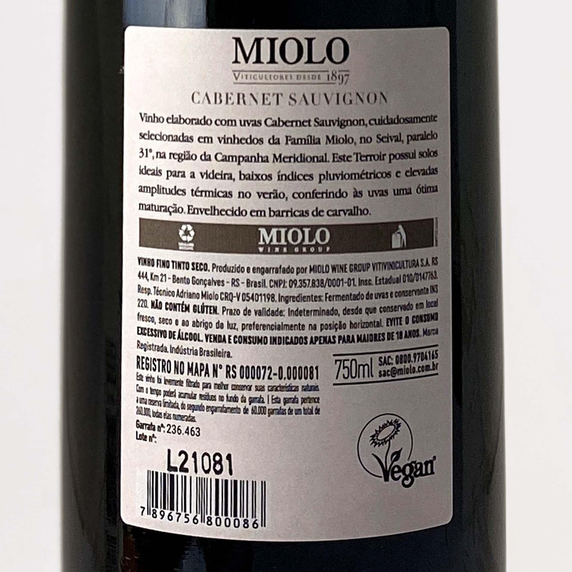 Miolo Reserva Cabernet Sauvignon  - Vinerize