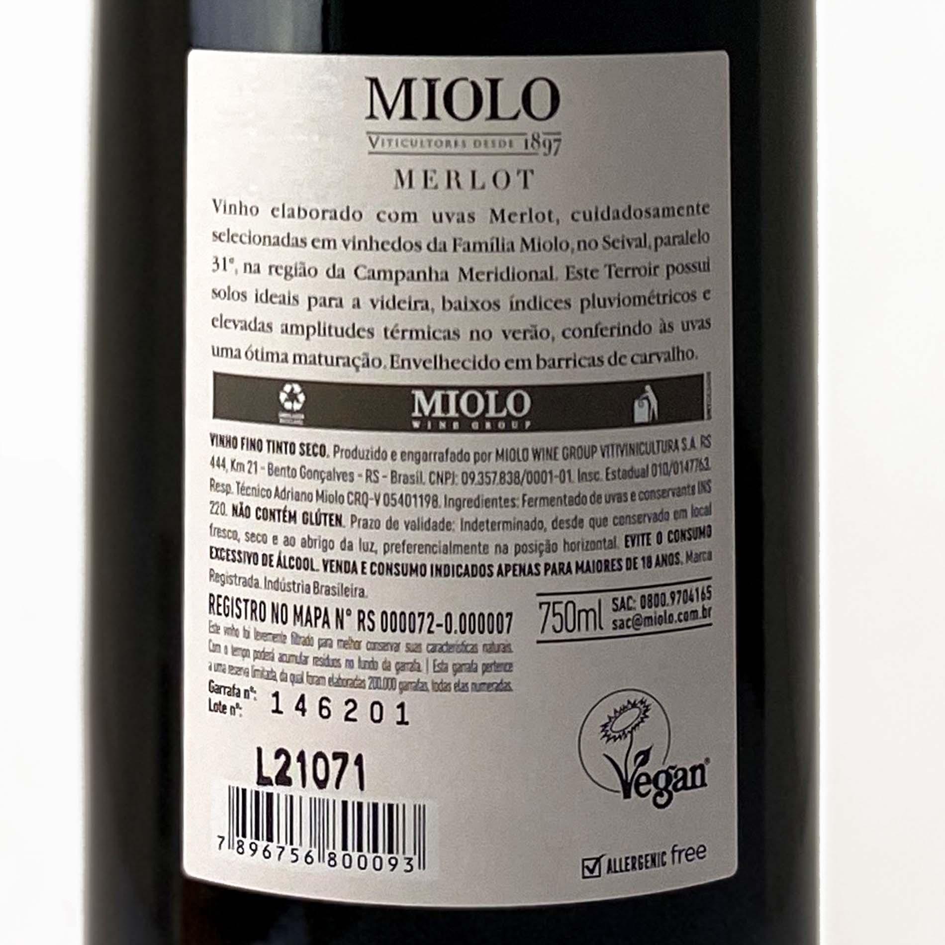 Miolo Reserva Merlot  - Vinerize