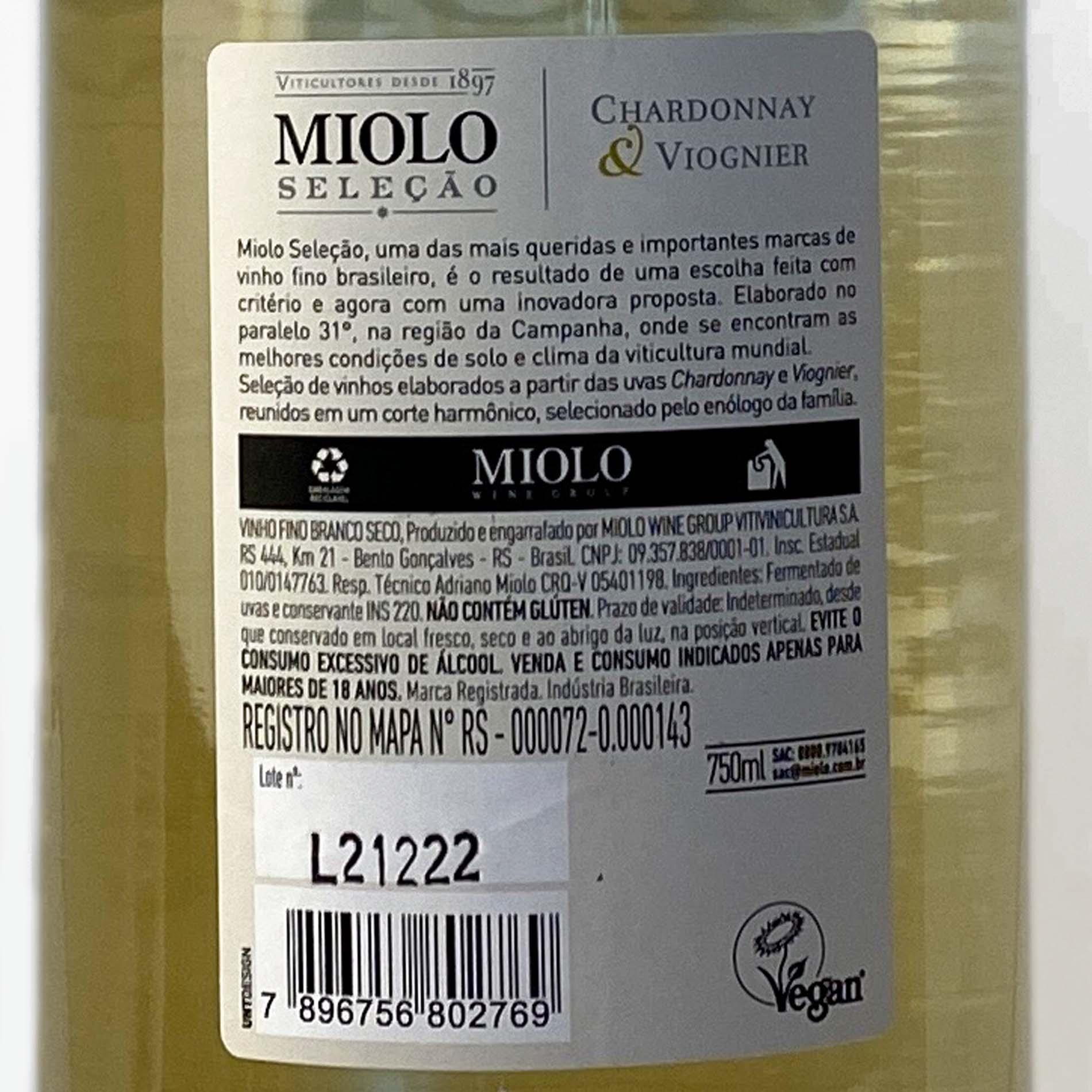 Miolo Seleção Chardonnay e Viognier  - Vinerize