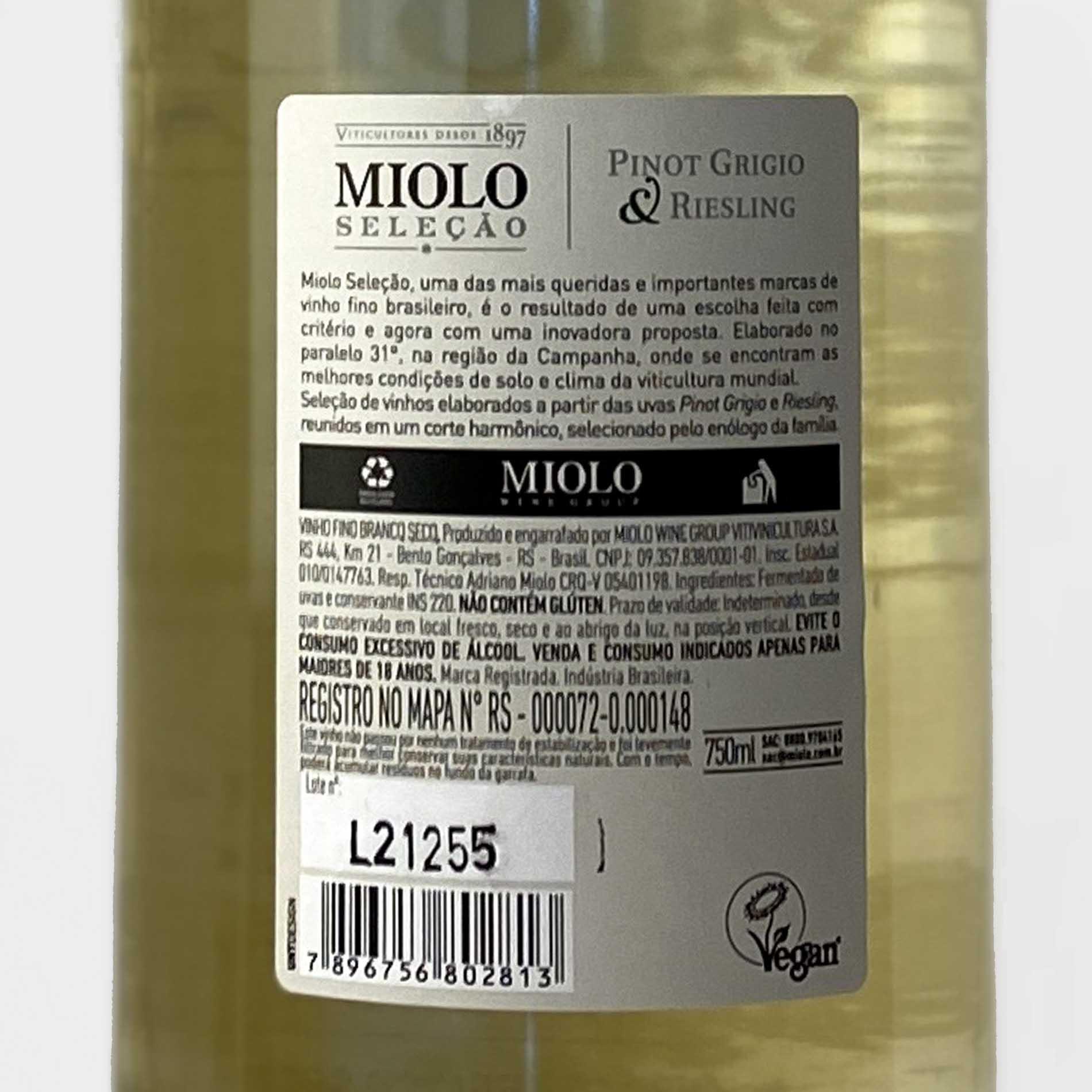 Miolo Seleção Pinot Grigio e Riesling  - Vinerize