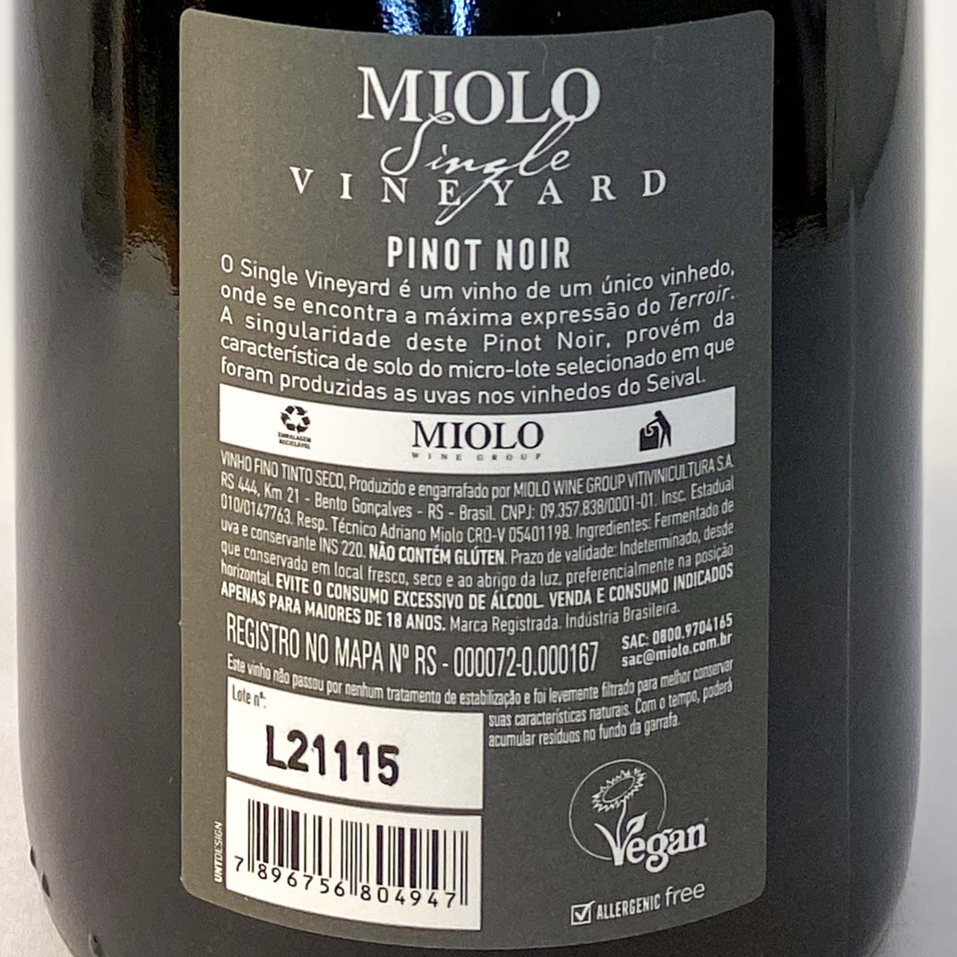 Miolo Single Vineyard Pinot Noir  - Vinerize